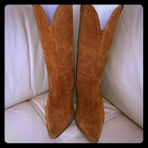 Michael Kors Real Suede Leather Western Boots